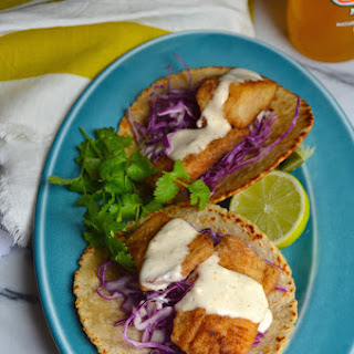 Spicy Fish Tacos with Chili Lime Mayo.