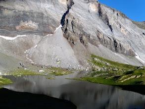 Photo: Albeggia sul Lac de Barroude, 2373m, scenario dolomitico.
