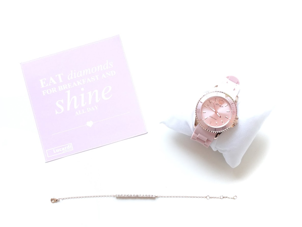Pink JetSet Addiction Horloge