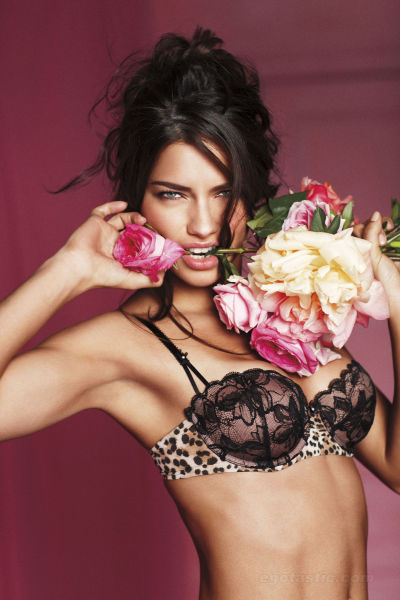 Adriana Lima Posing for Victorias Secret Valentine Collection (12pics):hot,lingerie