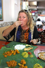 Photo: Year 2 Day 114 - My Turn to Eat off a Banana Leaf
