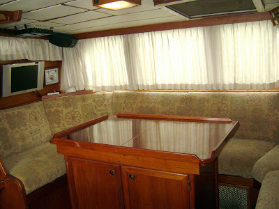 Pilothouse Settee (port side, looking aft)