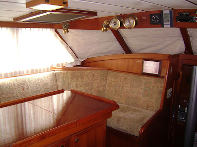 Pilothouse Settee (port side, looking forward)