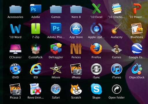 Mac OS X Lion ObjectDock Theme xp theme
