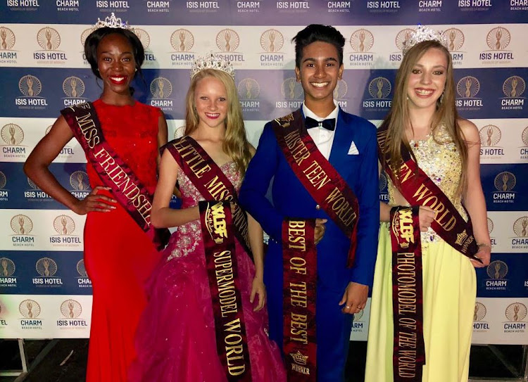 South African teens scoop beauty titles at the World League of Fashion & Beauty competition.