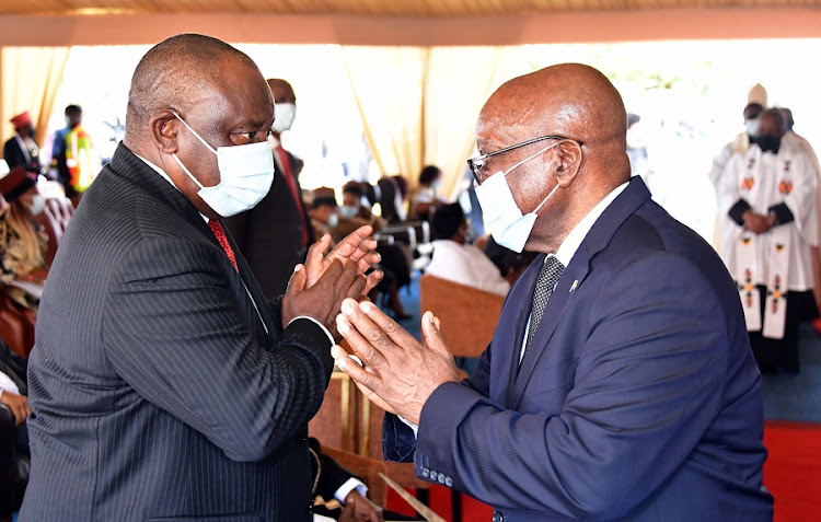 President Cyril Ramaphosa and former president Jacob Zuma. Picture: Supplied