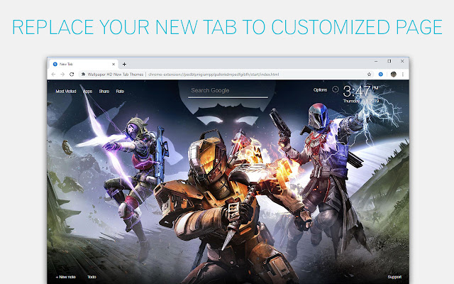 Destiny Wallpapers HD New Tab - freeaddon.com