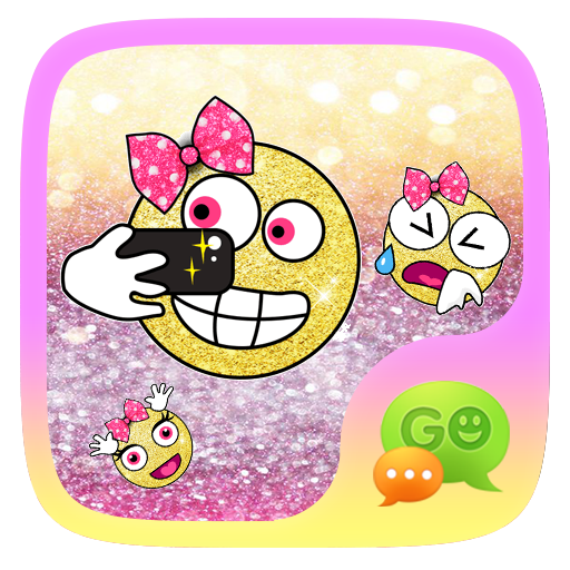 FREE-GOSMS GOLDGLITTER STICKER