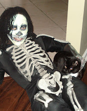 """Photo: Halloween Face Painting by Paola from http://www.BestPartyPlanner.net """"Glow in the dark Skull"""""""
