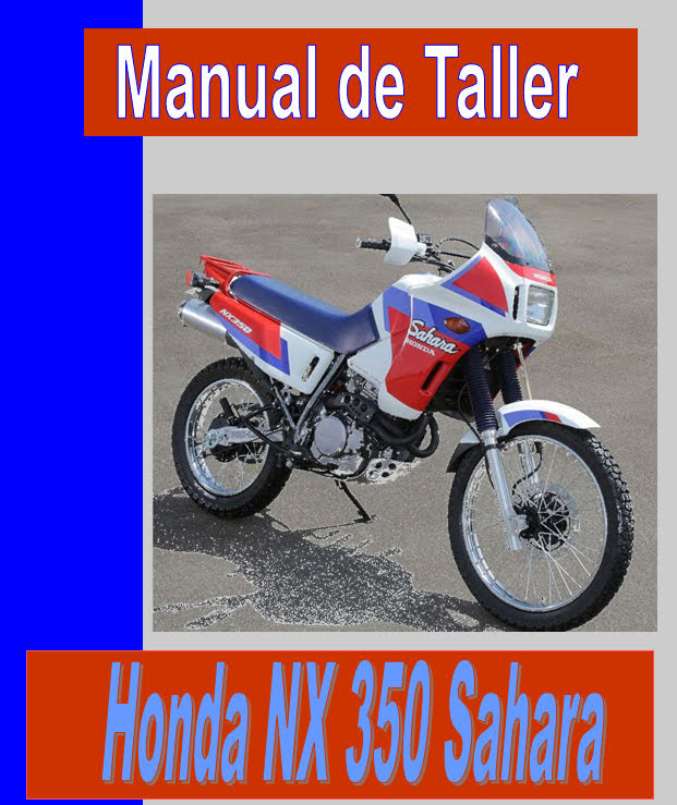 Honda NX 350 -manual-taller-mecanica-despiece