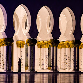 The prayer by Meet Engineer - Buildings & Architecture Places of Worship ( nikon, mosque, uae, dubai, night photography, low light )