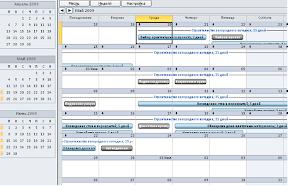 Представление Microsoft Project - Календарь