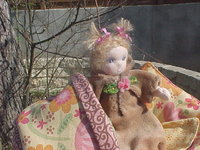 """Liralynn -  6"""" Baby in a Moses Basket"""