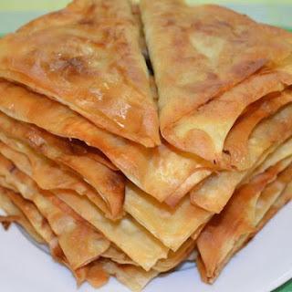Lazy meat pasties Lavash.