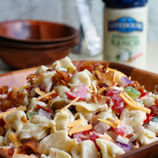 Bacon Ranch Tortellini Salad.