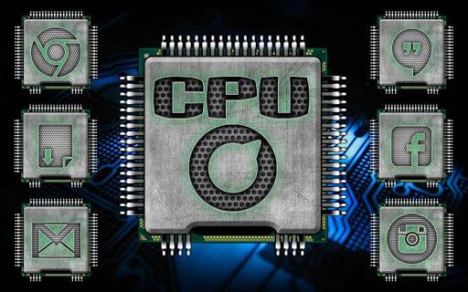 Neon CPU SOLO Launcher Theme