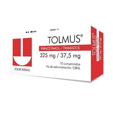 Tolmus 325/37.5Mg   Comprimidos Caja X10Com Aso Paracetamol Tramadol