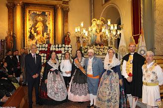 L'agrupació Olivereta participa en l'ofrena als Sants Patrons de la Vall D'uixó