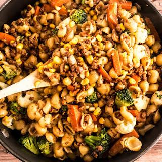 Vegan Beef Veggie Pasta Recipe