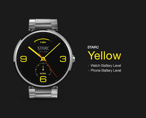 Yellow watchface by Starc