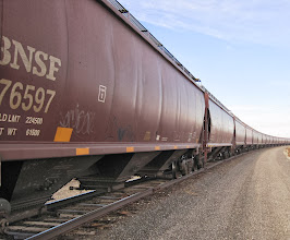 Photo: 110713 First Unit Train of Canola Seed unloading at Pacific Coast Canola in Warden, Washington