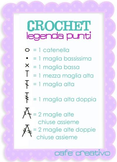 crochet - legenda punti