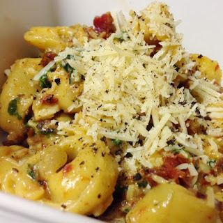 Sun Dried Tomatoes and Spinach Tortellini.