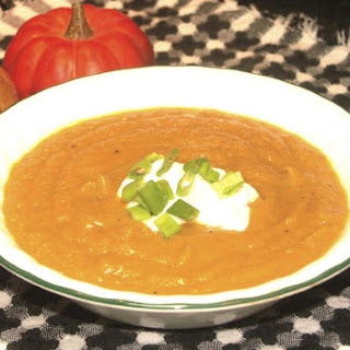 Butternut Squash Soup with Scallion Cream
