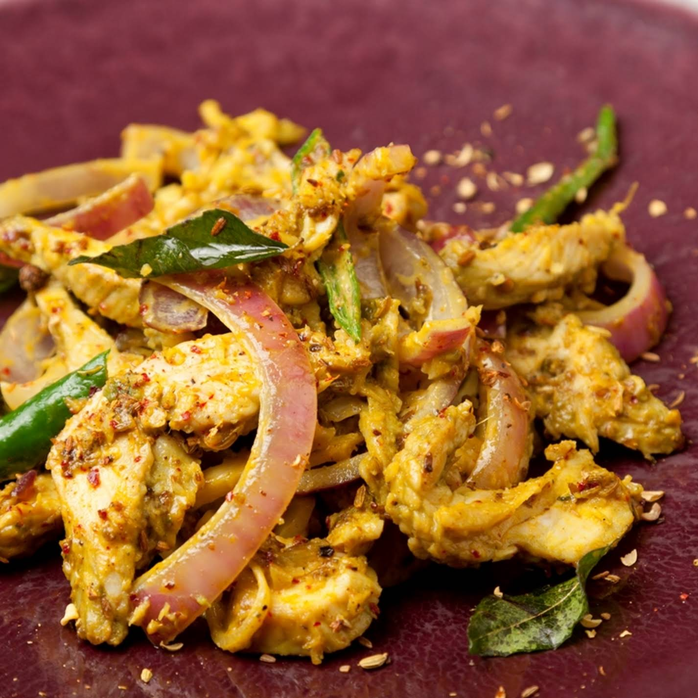 South Indian Style Stir Fry Of Leftover Turkey With Curried Yoghurt