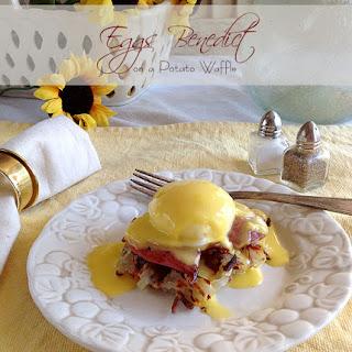 Eggs Benedict on a Potato Waffle