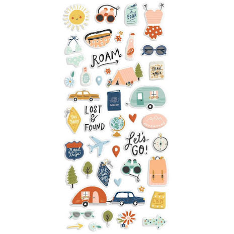 Simple Stories Puffy Stickers - Safe Travels