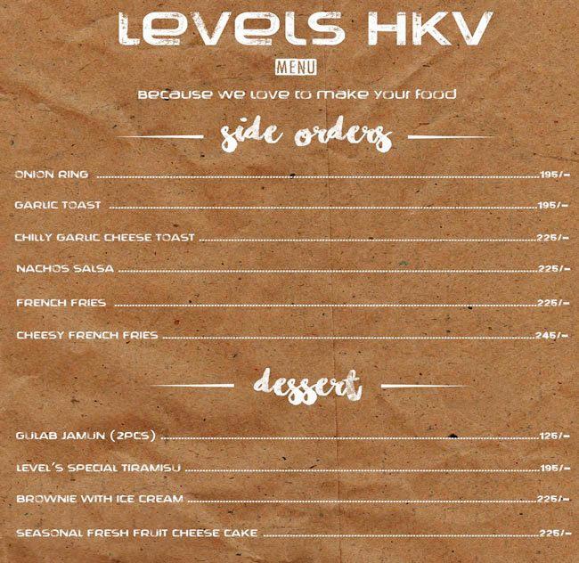 Levels HKV menu 13