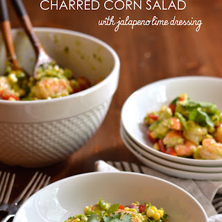 Roasted Shrimp and Charred Corn Salad with Jalapeño Lime Dressing