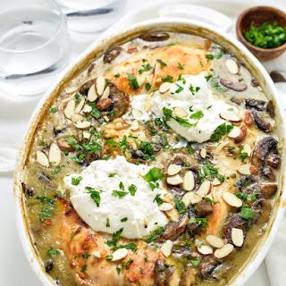 Almond Chicken & Mushroom Casserole.