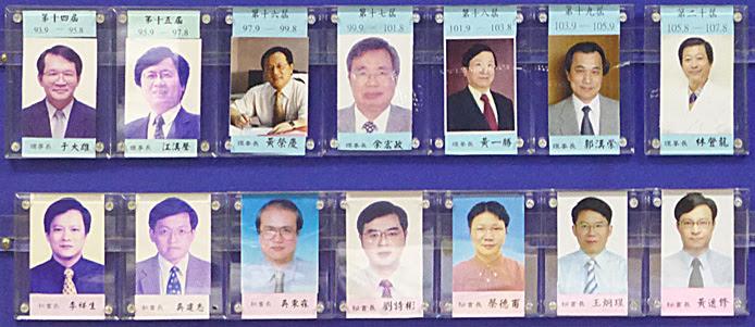 第十四屆理事長及秘書長至第二十屆理事長及秘書長