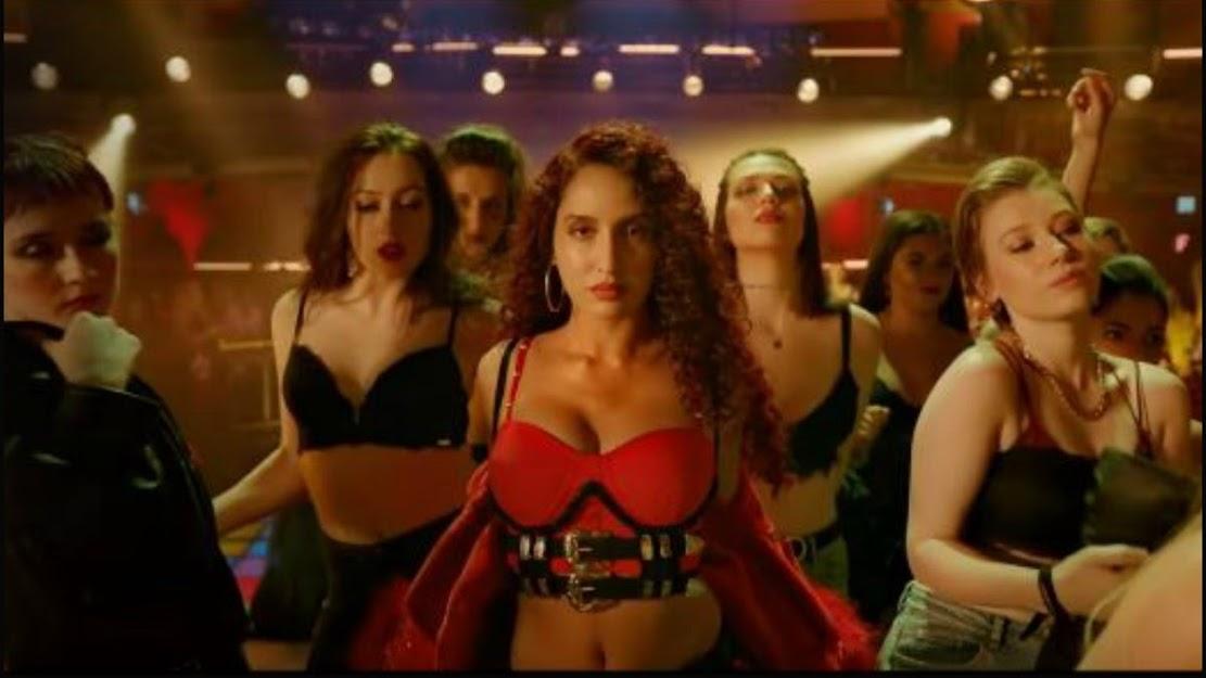 Nora Fatehi Street Dancer Hot, Nora Fatehi in red, Nora Fatehi sexy dance, Nora Fatehi hot dance