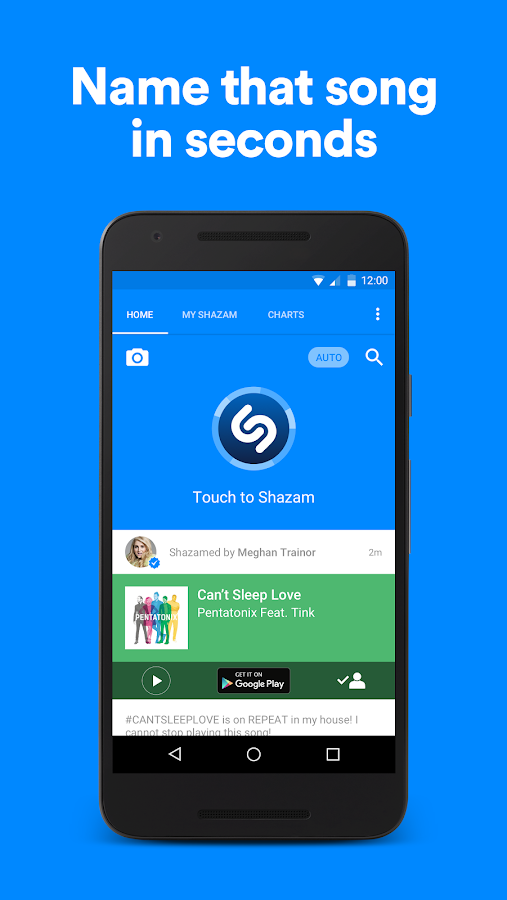 Screenshots of Shazam for iPhone