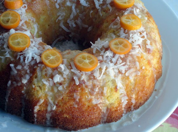 FOR GARNISH:  Once cake has cooled, drizzle glaze over the cake as you...