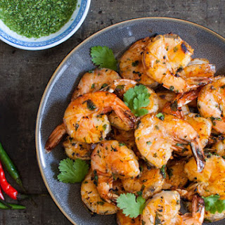 Thai Grilled Shrimp with Angry Sauce.