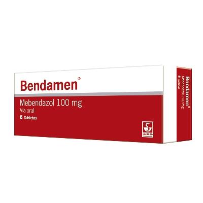 Mebendazol Bendamen X 6 Tabletas siegfried x 6 tabletas