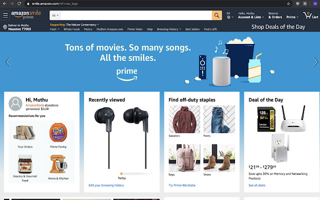 AmazonSmile Extension