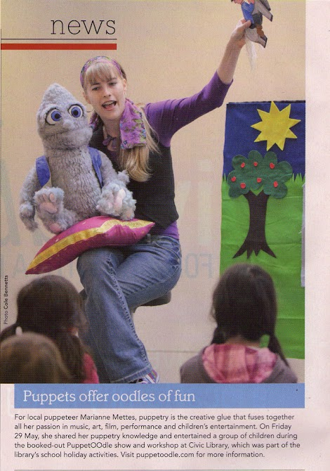 PuppetOOdle featured in the Canberra Weekly