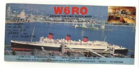 Photo: Queen Mary QSL to WB9OTX
