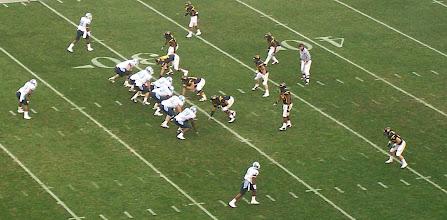 Photo: Tar Heel offense versus Mountaineer D.