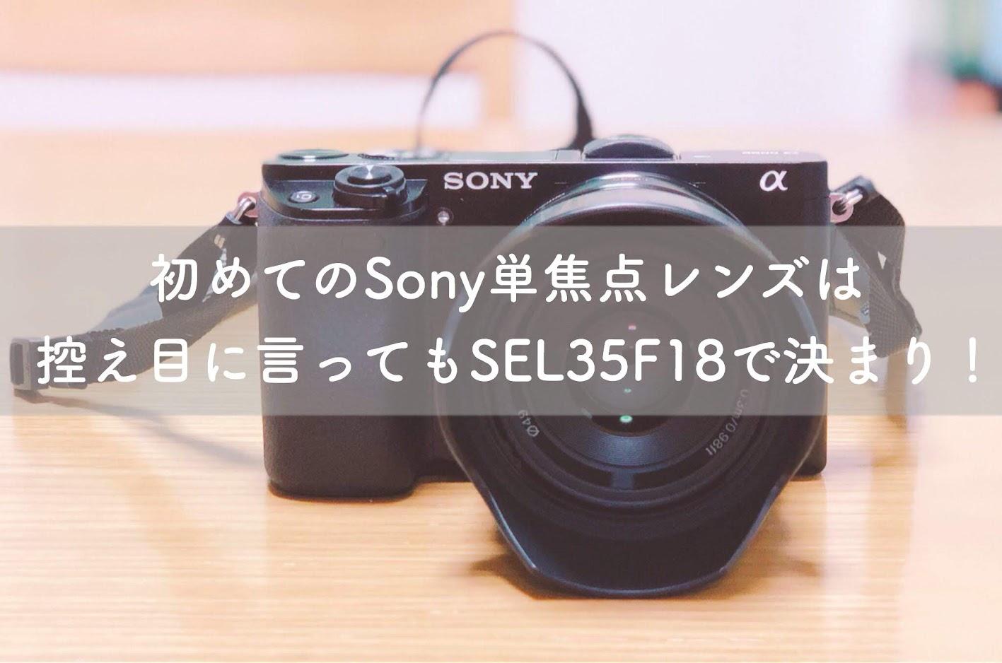 初めてのSONY単焦点レンズは控えめに言ってもSEL35F18で決まり!