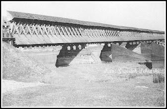 Photo: Most na Sanie w Krzeszowie. (Skan zdjęcia udostępnionego przez Panią Zofię Chmiel)