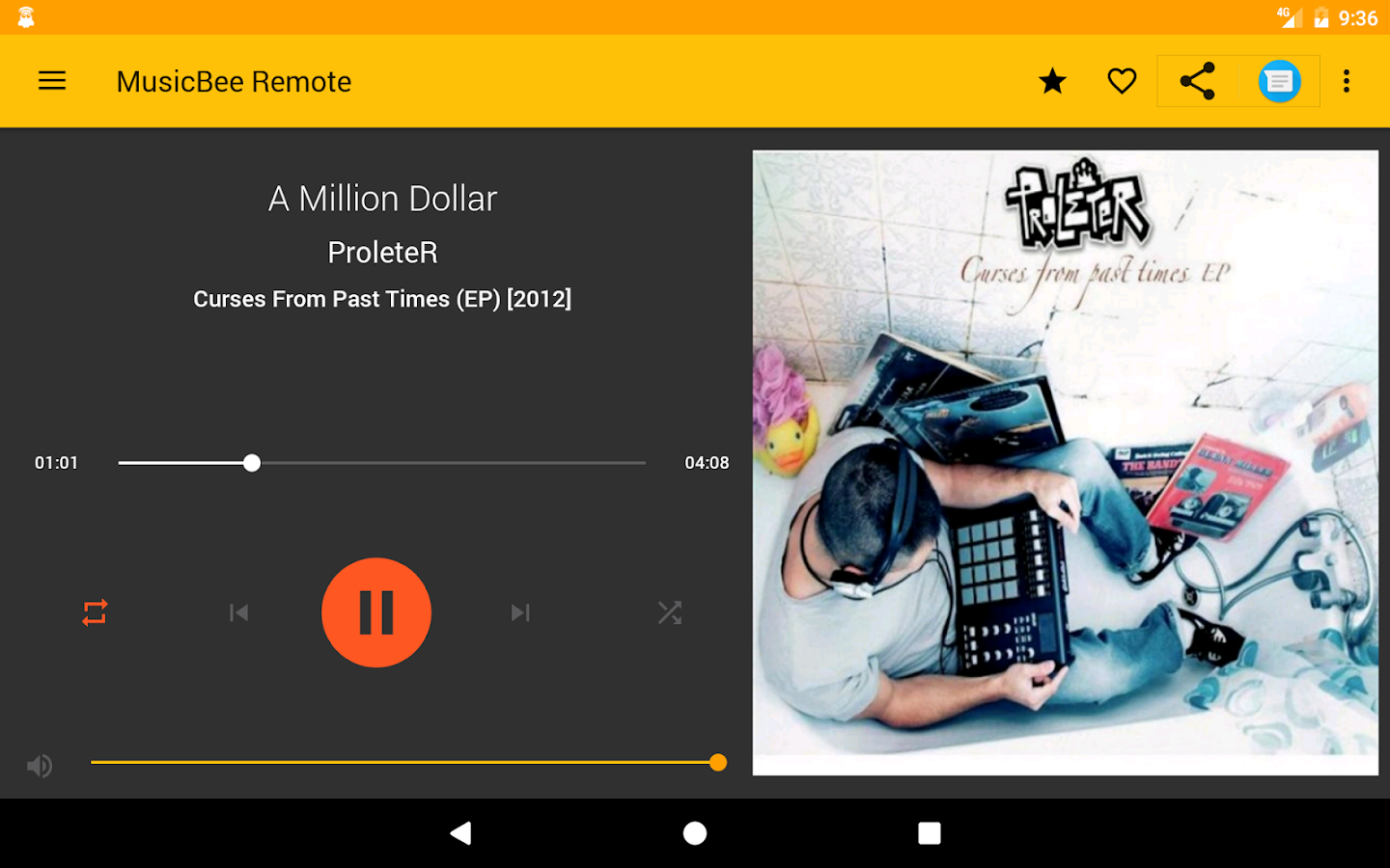 MusicBee Remote- screenshot