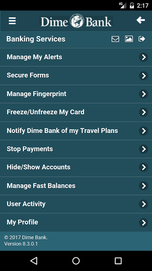 Dime Bank Mobile Banking- screenshot