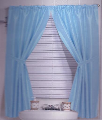 lauren bathroom window curtain water resistant 34 x54 ebay