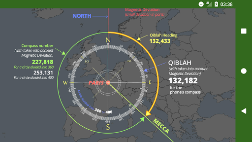 Islam.ms Prayer Times Qibla finder Locator Compass screenshot 8